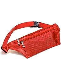 TOOGOO(R) Unisex Bum Waist Bag Handy Travel Sport Fanny Money Wallet Pack Belt Zip Pouch - Red
