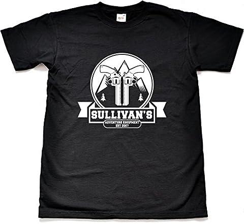 Sullivan's Adventure Equipment Store lustige Schwarz T Shirt Kind Medium 9-11 Jahre
