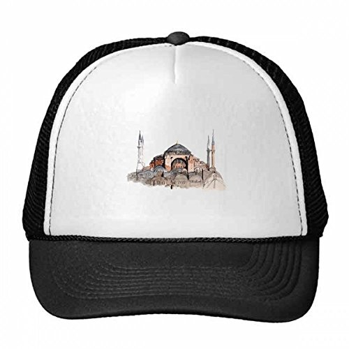 DIYthinker Türkei Hagia Sophia Istanbul Trucker Mütze Baseball Cap Nylon Mesh Hat...