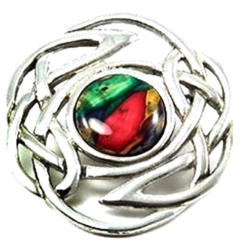 100% Pewter Celtic Knot Heather Brooch - Handcrafted In Scotland By Heather Gems