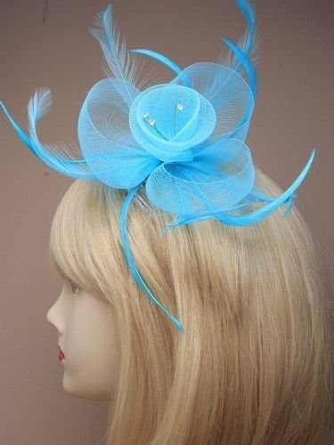 pastel-coloured-net-feather-crystal-centre-fascinator-on-a-clear-comb-weddings-aqua