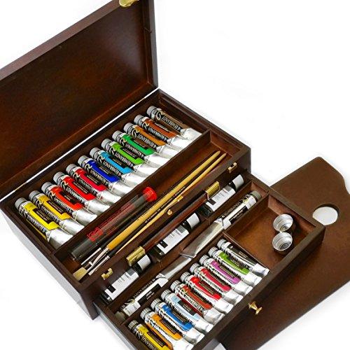 royal-talens-huile-rembrandt-boite-de-couleur-master-edition-en-bois-poitrine-avec-pinceaux-peinture