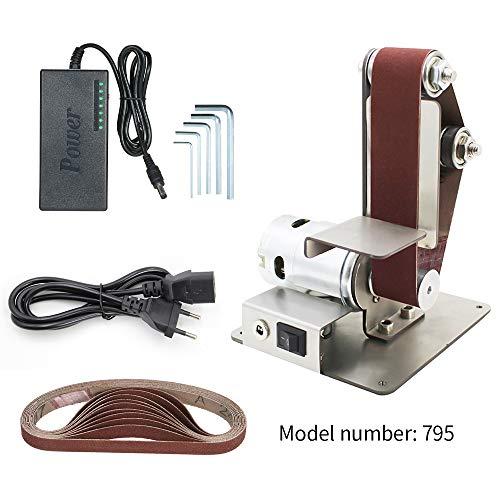 Kkmoon levigatrice a nastro da banco 4500-9000rpm mini macchina sabbiatrice per lucidatura da taglio per tavolo da affilatura ad angolo fisso