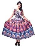 Jaipuri Fashionista Women's cotton Dress Material (46JFJDMRBLO_ Blue_ Free Size)