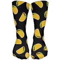 Caps big Taco Pattern Unisex Novelty Crew Socks Ankle Dress Socks Fits Shoe Size 6-