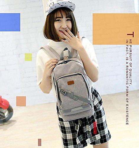 FEN La version coréenne du sac à dos dames loisirs sac de voyage tendance sac à dos (vert, gris)