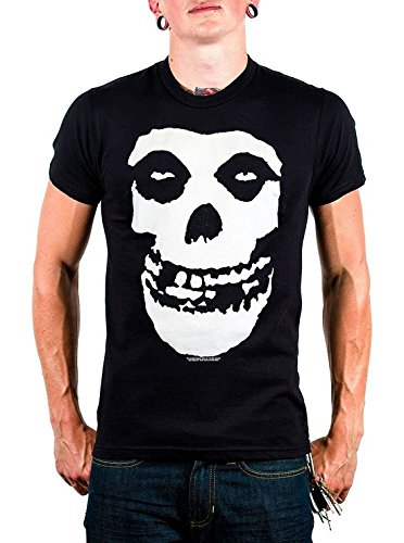 The Misfits - Classic Fiend Skull Adulto T-Shirt In Nero, X-Large, Nero
