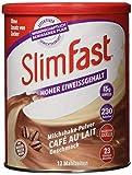 SlimFast Milchshake Pulver Café au Lait I Kalorienreduzierter Abnehm-Shake mit hohem Eiweißanteil I...