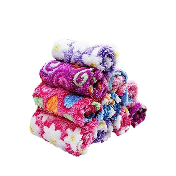 B.H Super Soft Printed Face Towel for Women, Girls, Babies (Multicolour) - Pack of 12