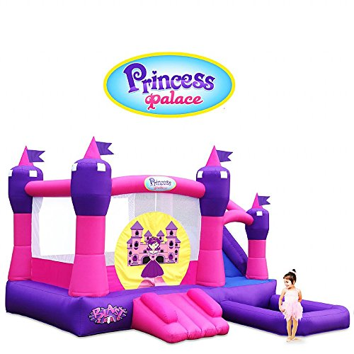 Blast Zone GE-PRINCESSCOMBO Inflatable Bounce House, Water Slide and Ball Pit
