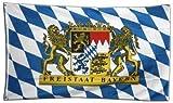 Flaggenking King di Stato Libero di Baviera Bandiera Bandiera 16991, Multicolore, 150x 90x 1cm
