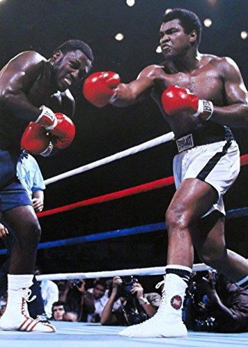 (The Greatest–Muhammad Ali V Joe Frazier in Manila 1975–Druck/Bild–auf ein schweres Art Papier, Image Plus Border, 16 x 12inch)