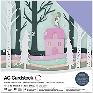 American Crafts Variety Cardstock Pack x 12-inch 60/Pkg, Multicoloured, 30.73 x 30.48 x 2.03 cm