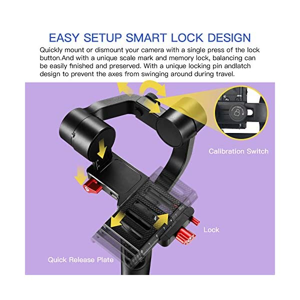 Hohem Digital Camera Gimbal Stabilizer Handheld Gimble for Sony RX100, for Canon PowerShot, for Panasonic Lumix, Action Cameras and Smartphones, Playload 400g, 3-in-1 Gimball (hohem iSteady Multi) 7