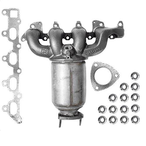 ECD Germany Kat-014 Katalysator Kat Krümmer | Länge [mm]: 360 | inkl. Montageteile | Auspuff Abgasanlage