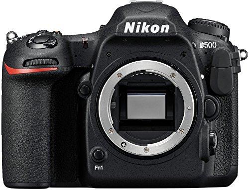 Nikon D500 Digitale Spiegelreflexkamera (20.9 Megapixel, 8 cm (3,2 Zoll) LCD-Touchmonitor, 4K-UHD-Video) nur Gehäuse schwarz -