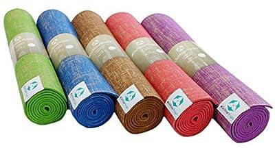 Jute-Yogamatte »Sampati JuteÂ« / High Quality Matte aus hochwertigen Jutefasern und ECO-PVC. Atmungsaktiv, schadstofffrei und sehr robust. Ideal für häufige Yogaübungen. Maße: 183 x 61 x 0,5cm, in verschiedenen Farben erhältlich