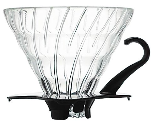 Hario Coffee Dripper V60 Size 02 Black Glass (japan import)