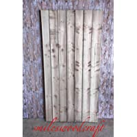 Smileswoodcraft Wooden Garden Close Board Gate Made To Measure Bespoke Gates (76cm (W) x 180cm (H) x 5cm (D))