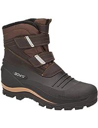 770de74b3f7579 BOWS® -KNUD- Herren Schnee Stiefel Jungen Winter Boots Schuhe Warmfutter  Klettverschluss…