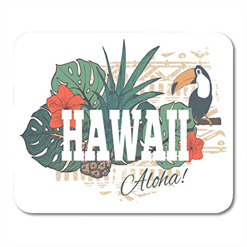Mauspads Luau Hawaiian Vintage Tropical Exotic Hawaii für Slogan Flower Mauspad für Notebooks, Desktop-Computer-Matten Bürobedarf (Maus-pad-hawaiian)