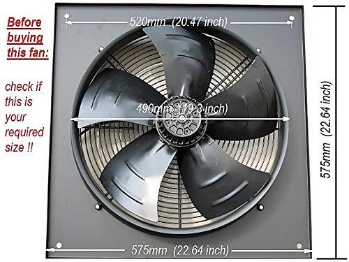 Extractor industrial comercial, ventilador de escape, 450 mm/18 pulgadas, resistente, potente, 240...