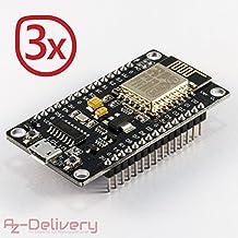 AZDelivery NodeMCU Lua Lolin V3 Module ESP8266 ESP-12E WIFI Wifi Development Board mit CH340 und gratis eBook! (3x NodeMCU Lolin V3)