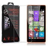 Cadorabo Verre Trempé pour Nokia Lumia 540 en Haute Transparent – Film Protection Écran en Verre Trempé pour Display – Tempered Vitre Protection Protecteurs