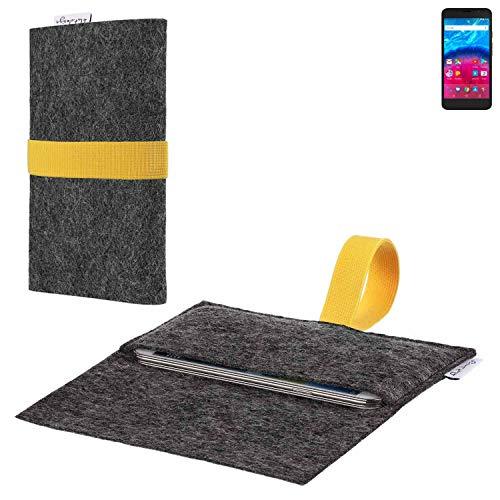 flat.design vegane Handy Hülle Aveiro für Archos Core 55 4G passgenaue Filz Tasche Case Sleeve Made in Germany