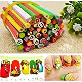 50pcs 3D Nail Art Canes Stick Rods Polymer Clay Stickers Decoration DIY A Stylish and Popular