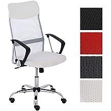 CLP Silla de escritorio WASHINGTON, respaldo ergonómico, altura del asiento: 47 – 55 cm, estructura en metal