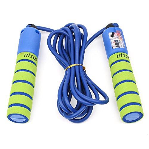 HITOP Corda salto regolabile con Contatore e comode maniglie, Luce di salto della corda per l'esercitazione, Crossfit, Pugilato, Allenamento e Fitness, migliori regali per i ragazzi e ragazze di età 5-10 Anni