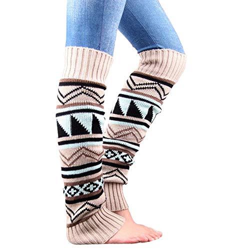 ShinyAmber Beinwärmer Sock Knit Pelzigen Stiefel Manschetten Socken Für Damen Damen Mädchen (Beige)