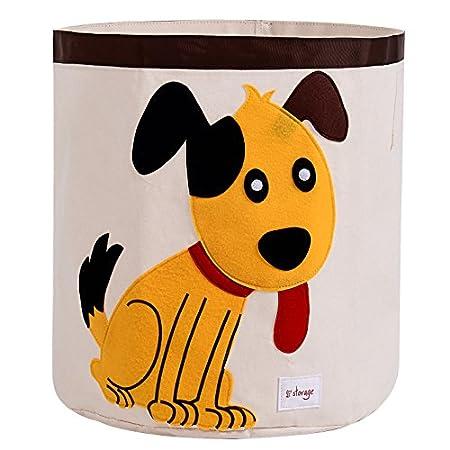Aufbewahrungskorb Leinwand Karikatur Wäschesack Kinder Spielzeug Aufbewahrung Geeignet für Kinderzimmer oder Kinderzimmer Spielzimmer von ELLEMOI