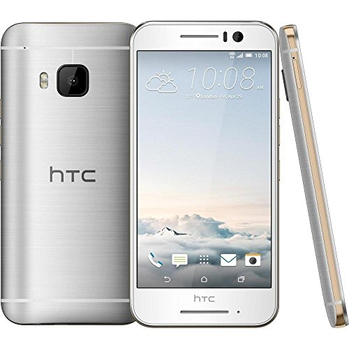 HTC One S9 Smartphone (12,7 cm 5 Zoll) Super LCD Display, 1080x1920 Pixel, 13 Megapixel, 16 GB, Android) silber