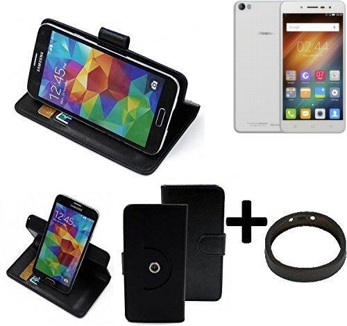 K-S-Trade® Case Schutz Hülle Für -Hisense L695- + Bumper Handyhülle Flipcase Smartphone Cover Handy Schutz Tasche Walletcase Schwarz (1x)