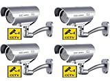 BW CCTV Dummy Camera 4 x Fake Dummy Camera Home Security CCTV Surveillance
