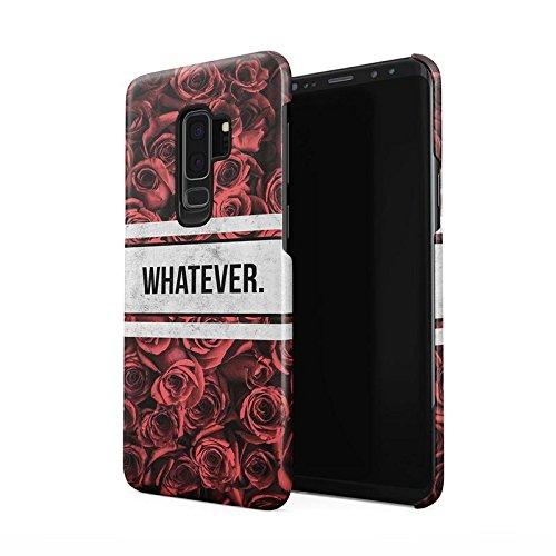 Whatever Crimson Rot Roses Wonderful Blossom Blumen Pattern Dünne Rückschale aus Hartplastik für Samsung Galaxy S9 Plus Handy Hülle Schutzhülle Slim Fit Case Cover -