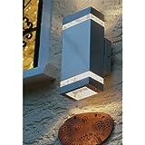 LED Wandleuchte / Außenleuchte 2-flammig im Edelstahlgehäuse mit kaltweißer CREE LED