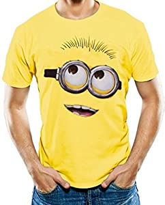 Minion Faces Despicable Me Unisex Yellow Tshirt