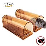 VENSMILE en direct Mouse Trap Rat Cage Catch Souris Rat protectrice des animaux (2 pièces)