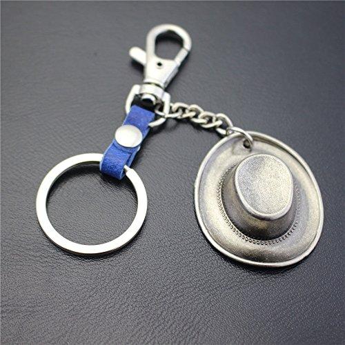 Silber Cowboy Hut - Hochwertige Schlüsselanhänger Dekoration Silber Cowboy Hut