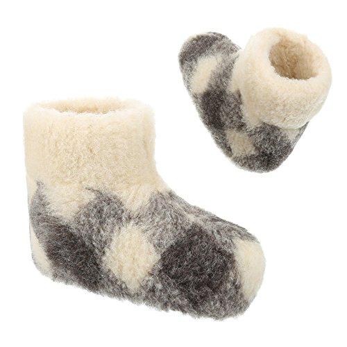 Damen und Herren Schuhe, PAN-1-101, HAUSSCHUHE Weiß Grau