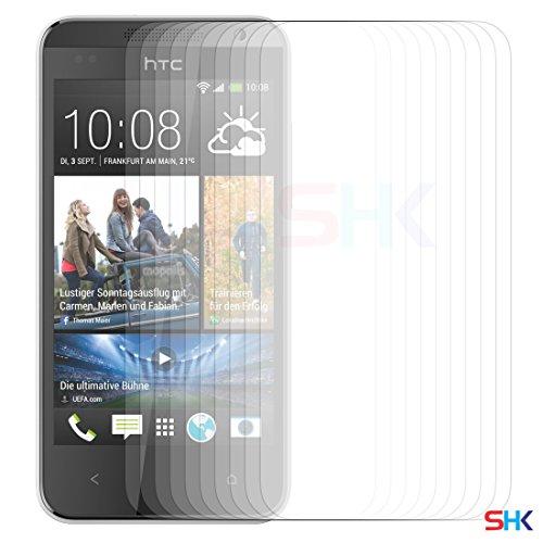 HTC Desire 300 PACK 1, 2, 3, 5, 10-Schirm-Schutz & Poliertuch SVL2 BY SHUKAN®, (PACK 10) (300 Count Tasche)