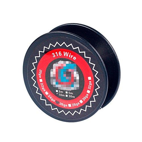 Coil Heating Wire 10m SS 316L 24ga 0.5mm / 26ga 0.4mm / 28ga 0.32mm RTA Stainless Steel Ohne Nokotin Ohne Tabak