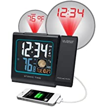 La Crosse Technology 616-146A Color LCD Projection 5-Inch Alarm Clock with Moon Phase by La Crosse Technology