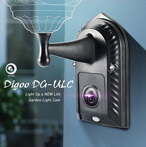 Digoo DG-ULC Garten-Flut-Licht-Kamera WIFI H.265 HD 1080P 2.4mm 120Weitwinkel-Objektiv PIR-Sensor Onvif IPX5 Wasserdichte Haustür-Beleuchtung-Kamera-Licht-Halter (Flut-licht-halter)