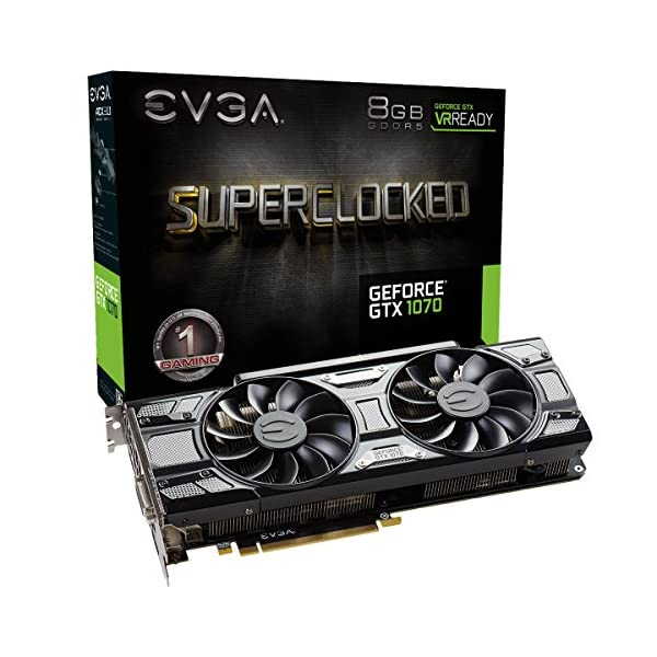 EVGA-08-G-P45173-kr-GeForce-GTX-1070-Superclocked-ACX-76-cm-Black-Edition-Grafikkarte--Schwarz-8-GB-GDDR5-PCI-Express-301594-MHz