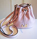 Michael Kors Jules Drawstring Crossbody Bag in Blossom Pink Pebbled Leather