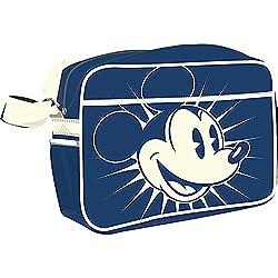 Bolso bandolera del ratón Mickey - cartera retro - bolsa con correa - azul